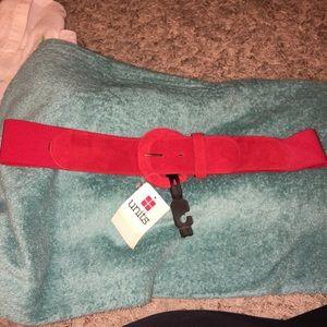 Accessories - New Red Suede Belt